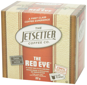 The Jetsetter Coffee, The Red Eye, 18-Count, 207gm {Imported from Canada}