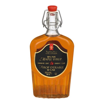 Glass President's Choice 100% Pure Syrup, Maple, 16.91oz. 500ml {Canadian}