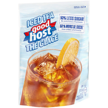 GOODHOST Original Iced Tea Mix, Less Sugar, 715g Pouch - {Imported from Canada}