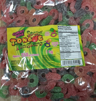 Gummy Zone Gummy Candy, Sour Tongue Tinglers, 250ct {Canadian}
