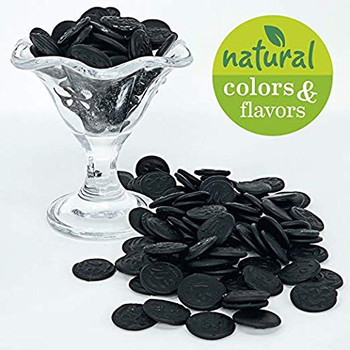 Gustaf's Dutch Licorice Coins With Hint Of Salt, 150g/5.2 oz. {Imported from Canada}