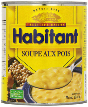Habitant French Canadian Split Pea Soup, 796ml/28oz. (Imported from Canada)
