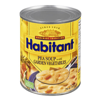 Habitant Pea With Garden Vegetable Soup, 796ml {Imported from Canada}