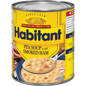 Habitant Split Pea With Smoked Ham Soup, 796ml - {Imported from Canada}