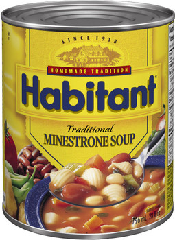 Habitant Traditional Minestrone Soup, 796ml - {Imported from Canada}