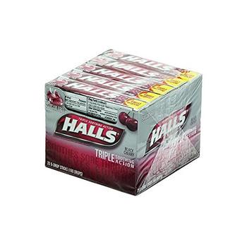 Halls Hard Candies, Black Cherry, 20 count