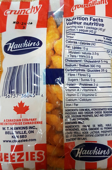 Hawkins Cheezies, 45g/1.59oz - {Imported from Canada}