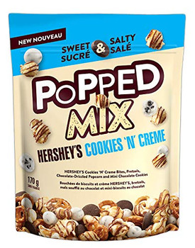 Hershey's Cookies 'n' Creme Popped Mix 170g/6 oz (Imported from Canada)