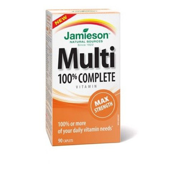 Jamieson 100% Complete Multivitamin Max Strength formula, 90 Capsules