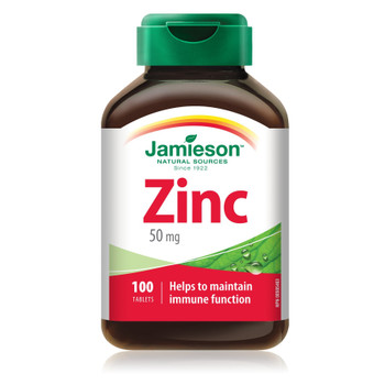 Jamieson Natural Sources Zinc 50 Mg {Imported from Canada}
