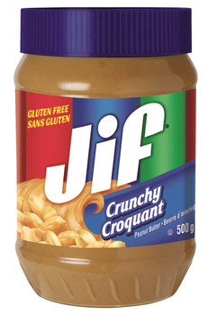 Jif Crunchy Peanut Butter 500g/17.6oz, (Imported from Canada)