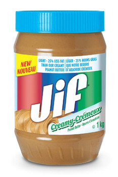 Jif Light Creamy Peanut Butter 1kg/35oz, (Imported from Canada)