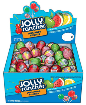 Jolly Rancher Assorted Lollipops, 850g Box (50 x 17g lollipops) {Canadian}