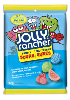 Jolly Rancher Fruity Sour Chewy Candy, 182g/ 6.4 oz., {Imported from Canada}