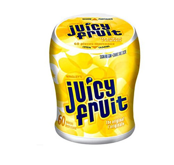 Juicy Fruit Original Gum Bottle (60 Piece), 2pk,  {Imported from Canada}