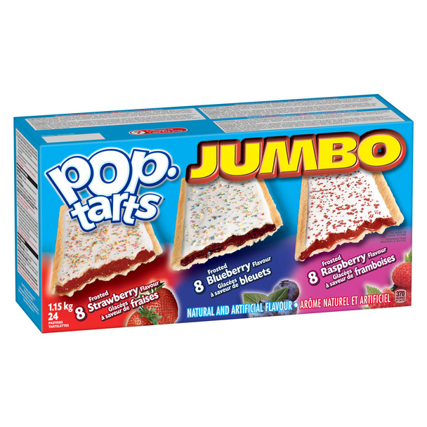 Kellogg's PopTarts Jumbo 24-Count, 1.2kg {Imported from Canada}