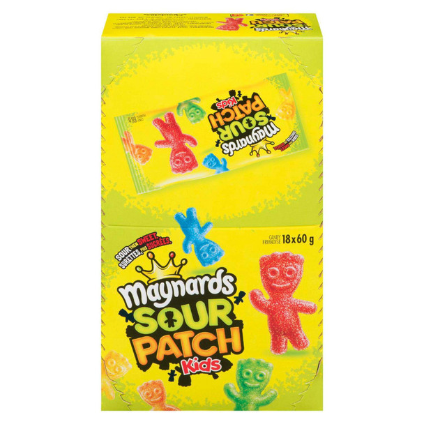 Maynard's Sour Patch Kids (18pk) 60g/2.1oz per pack) {Imported from Canada}