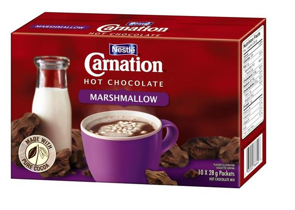 Nestle CARNATION Hot Chocolate Marshmallow (10 x 28g/1oz) {Canadian}