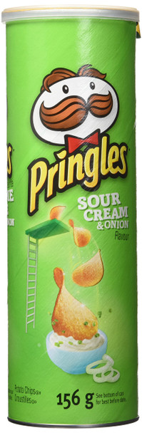 Pringles Sour Cream & Onion Potato Chips 156g/5.5 oz., (Imported from Canada)