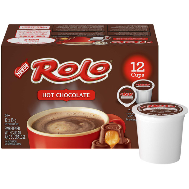 ROLO Hot Chocolate, KEURIG K-CUP Pods, 12x15g {Imported from Canada}