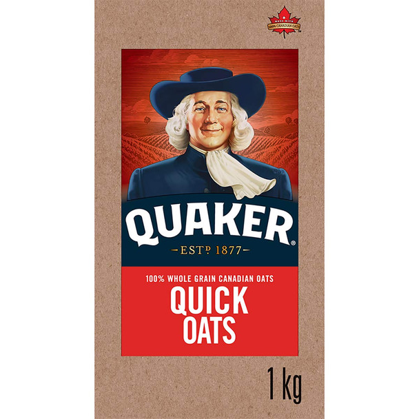 Standard Quaker Quick Oats 1 Kg/2.2 lbs., {Imported from Canada}