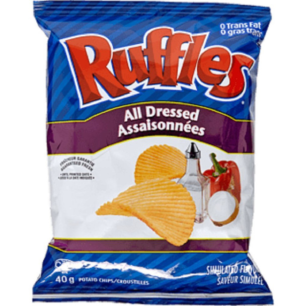 Ruffles All Dressed, Vending Chips (48pk/40g) - {Imported from Canada}