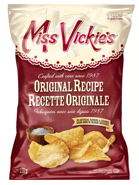 Miss Vickies Original Recipe Kettle Cooked Potato Chips, 220g / 7.8oz {Imported from Canada}