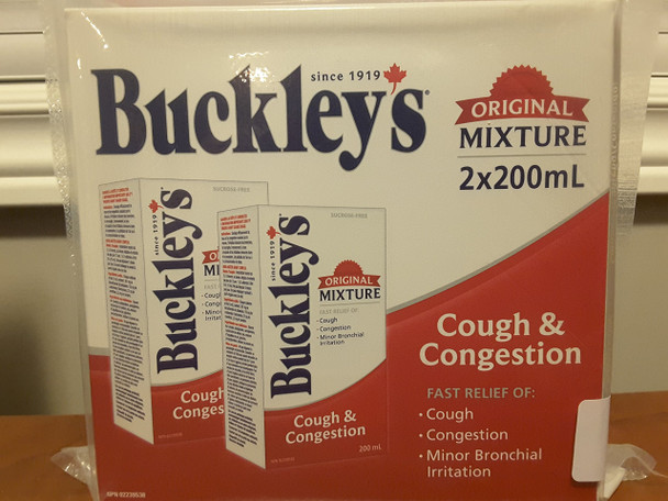Buckley's Cough & Congestion Syrup Original 2x200ml {Imported from Canada}