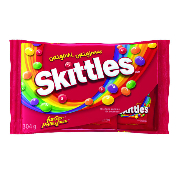 Skittles Multi-Coloured, Fun Size Candies, 20ct, 304g/10.7oz., {Imported from Canada}