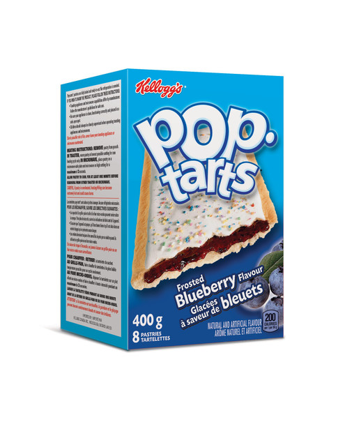 Kellogg's Pop Tarts Toaster Pastries, Frosted Blueberry 8ct, 400g/14.1oz., {Imported from Canada}