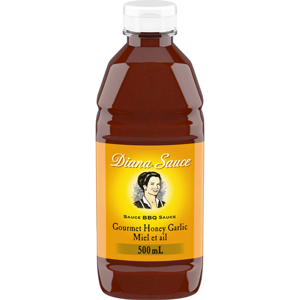 Diana Sauce, Honey Garlic Barbecue, 500mL (Pack of 10) {Imported from Canada}