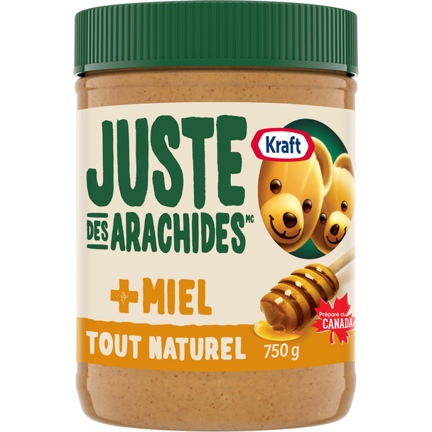 Kraft All Natural Peanut Butter with Honey 750g/26.5 oz., (Imported from Canada)