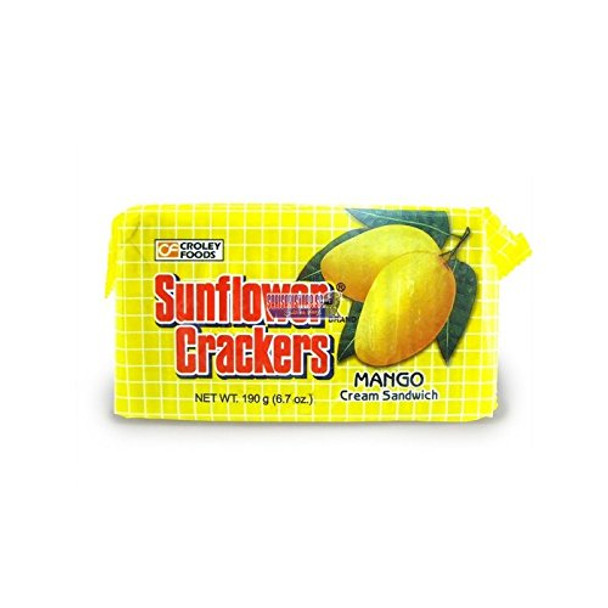 Croley Foods Sunflower Crackers Mango Flavor 189g/6.7oz {Imported from Canada}