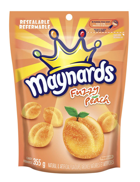 Maynards Fuzzy Peach 355g (12.5oz) Pack of 10, {Imported from Canada}