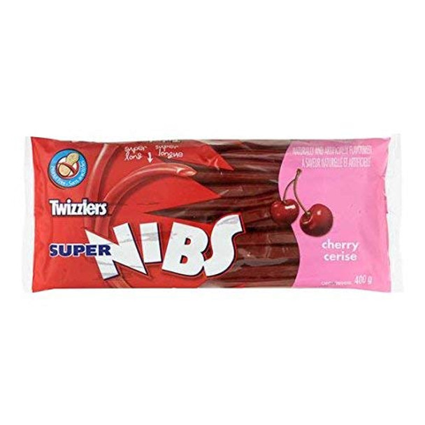 TWIZZLERS Licorice Cherry Super Nibs, Party Pack, 400g/14 oz., {Imported from Canada}
