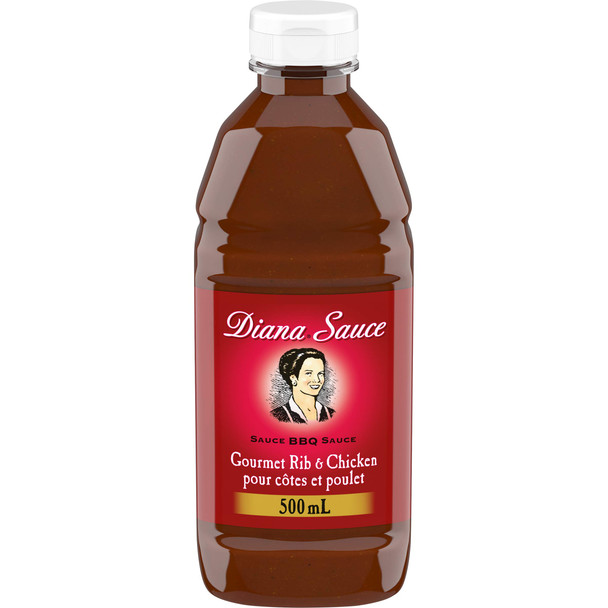 DIANA Sauce, Rib and Chicken, 1ct, 500ml/16.90oz  {Imported from Canada}