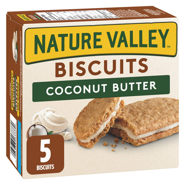 NATURE VALLEY Biscuit Coconut Butter, 5 Count, 190g/7.8oz, Box, {Imported from Canada}