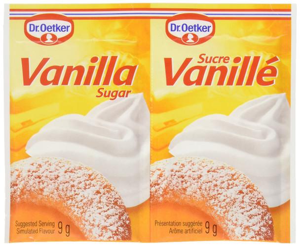 Dr. Oetker Vanilla Sugar - 6x9g {Imported from Canada}