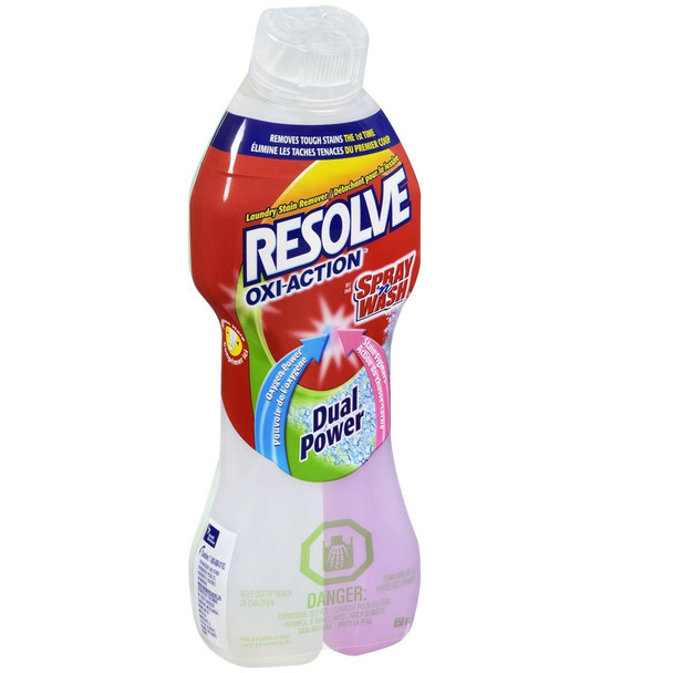 Resolve Oxi-Action Dual Power Pre Treatment Stain Remover, 650 ml/22oz. (Imported from Canada)