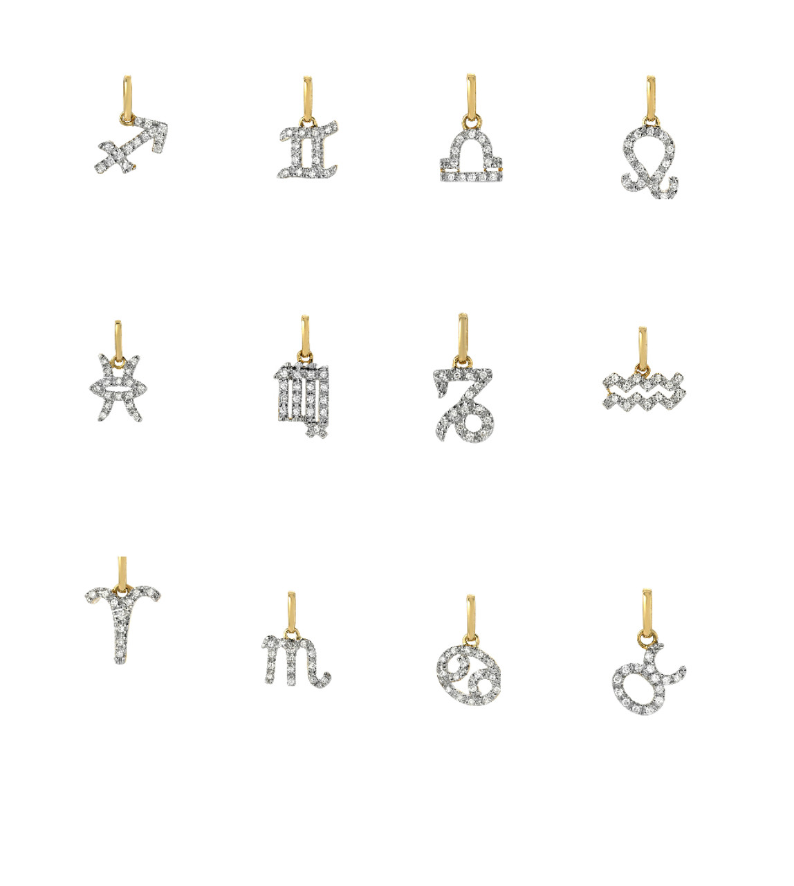 Diamond Zodiac Sign Charm