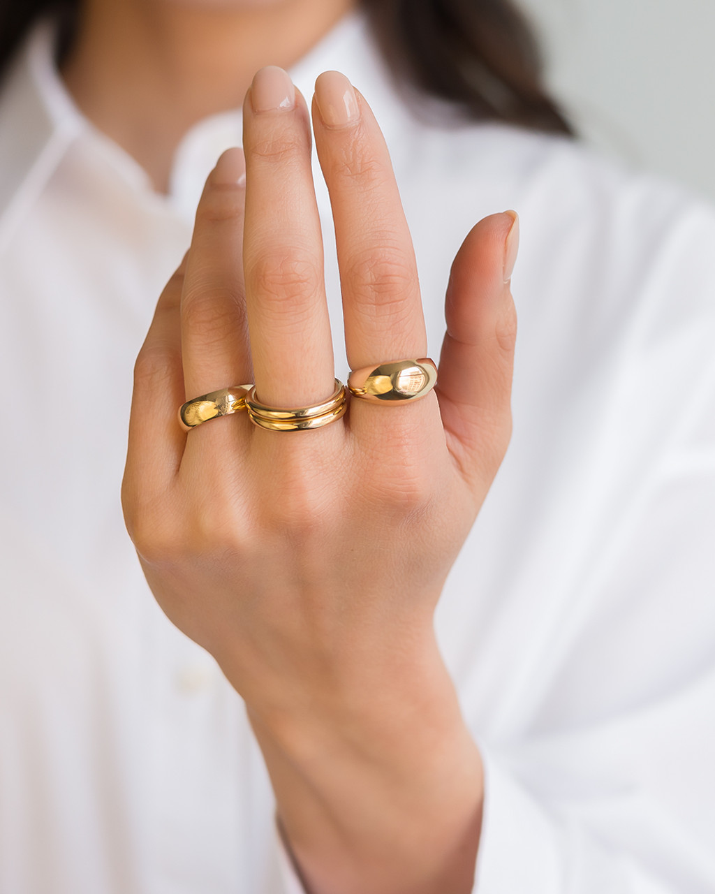 14k Gold Dome Band