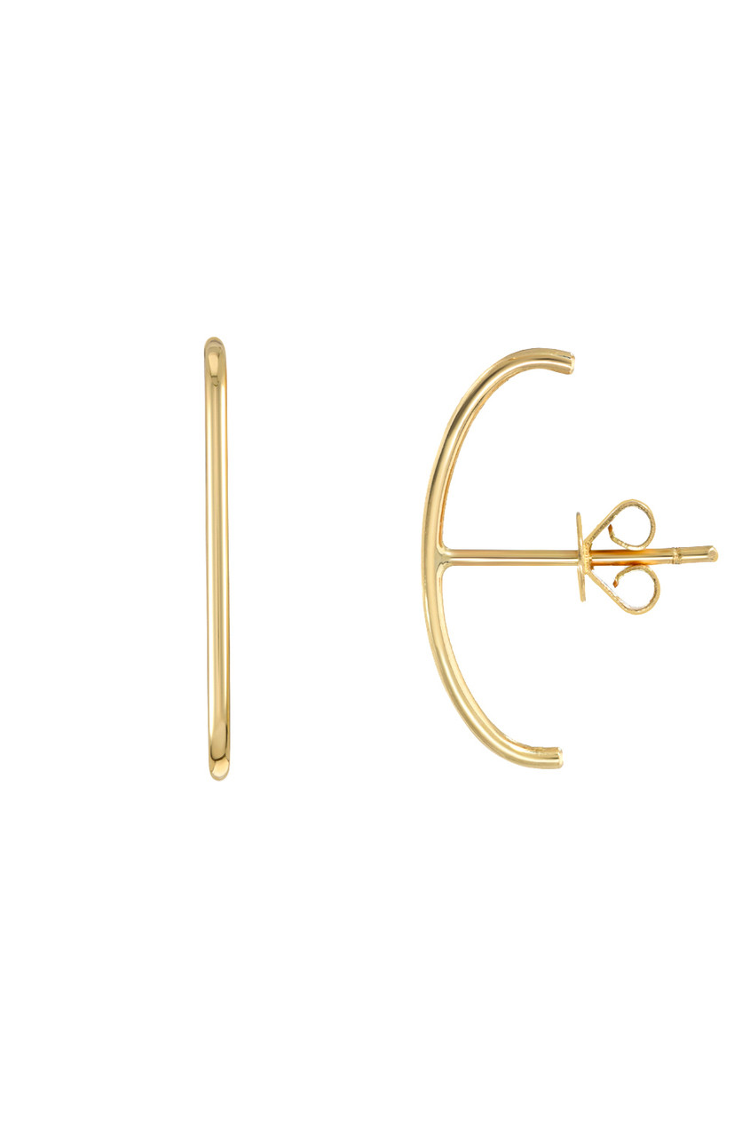 14k gold cartilage  stud earrings