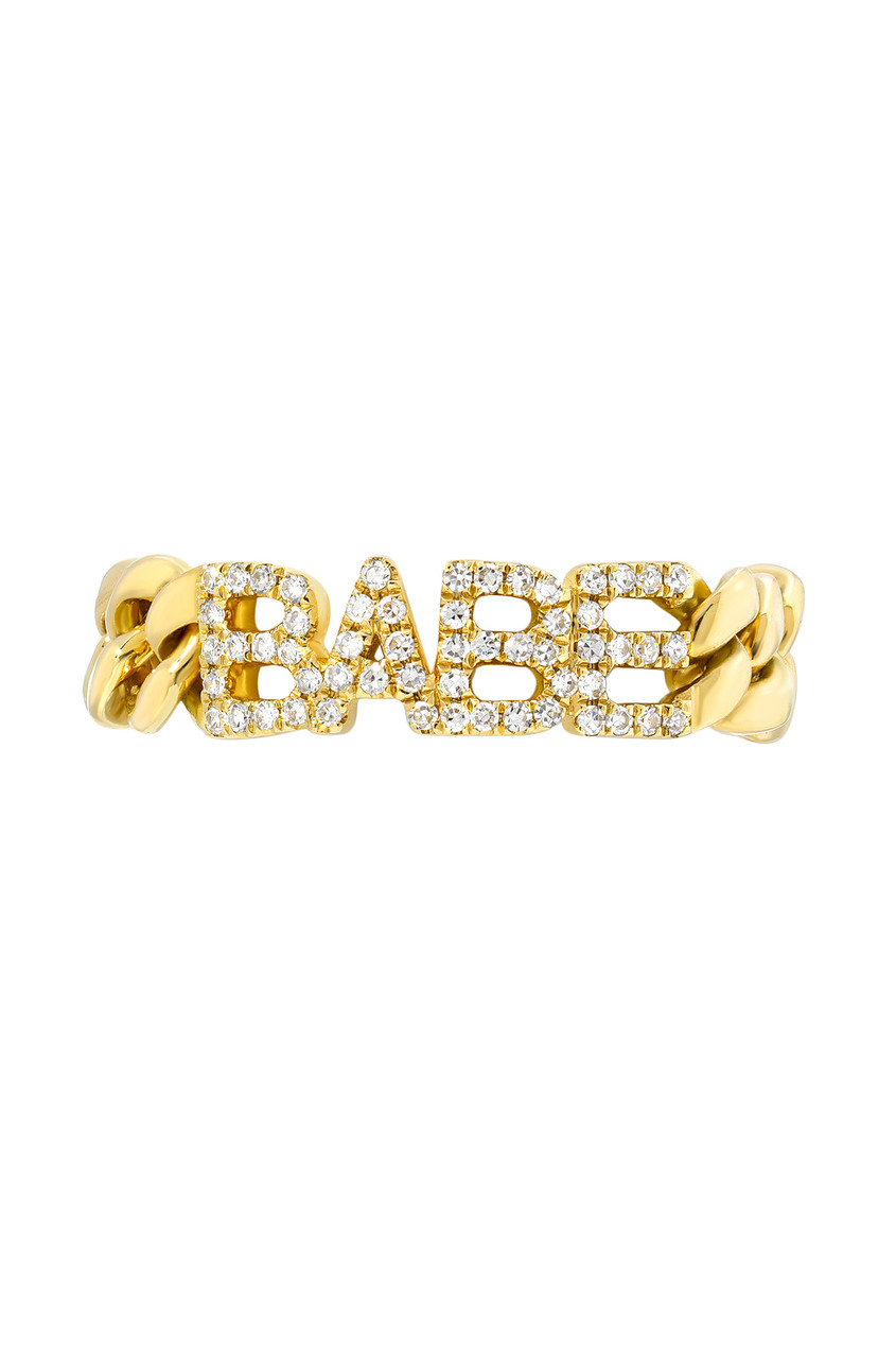 Diamond BABE cuban link ring