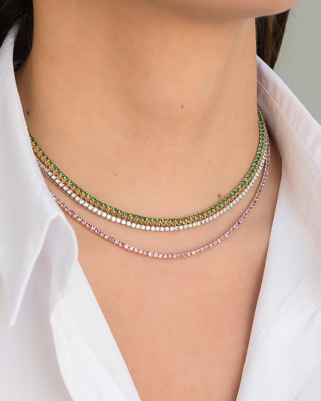 Emerald Tennis Necklace