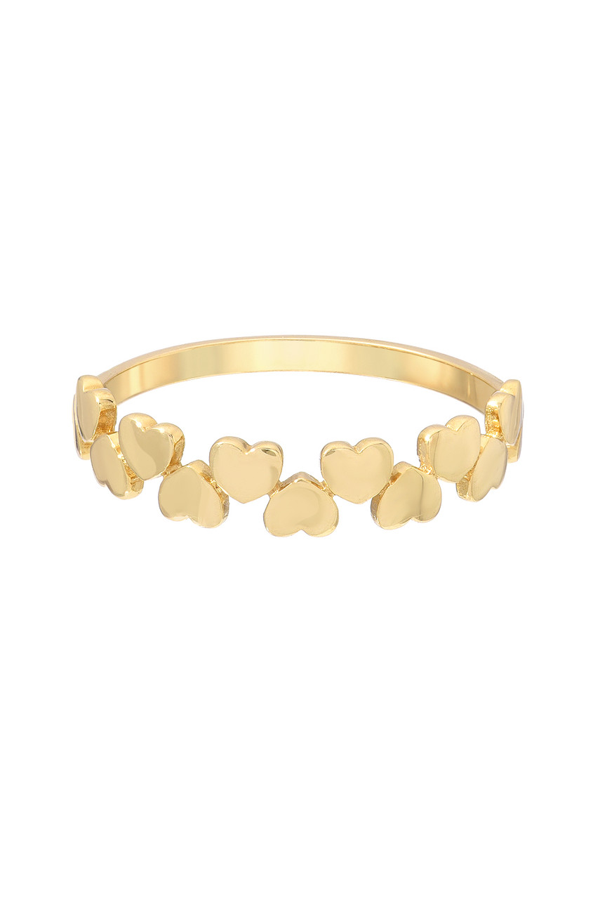 14k Gold Multiple Hearts Ring