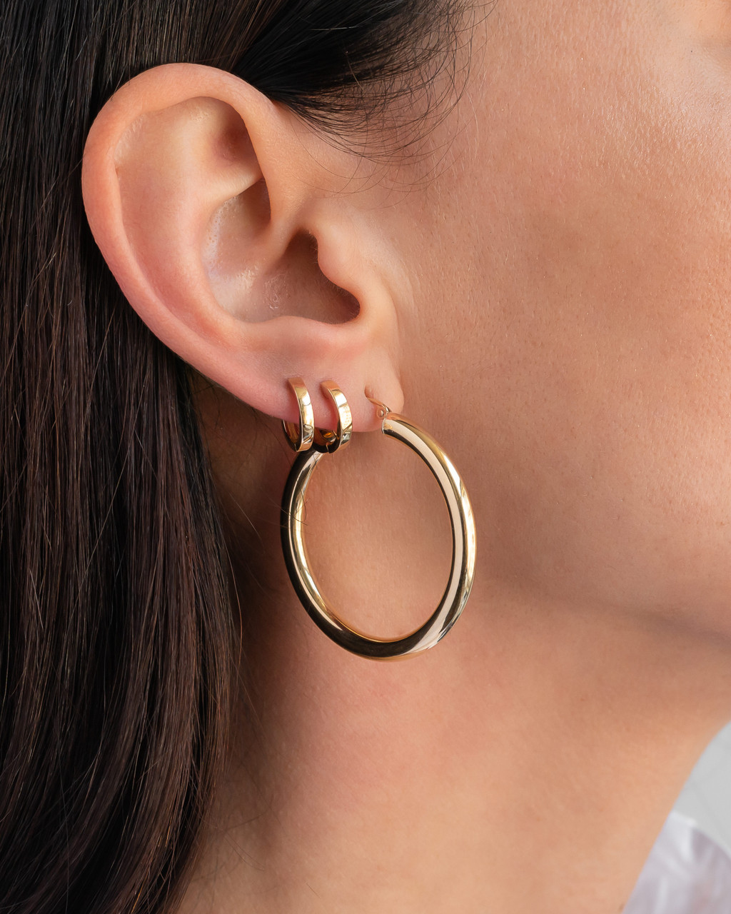 14k Gold Huggie Earrings