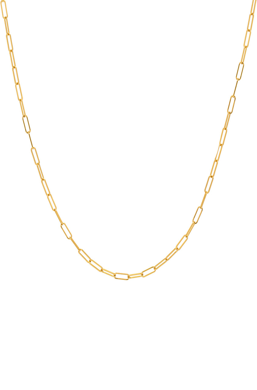 14k Gold Open Link Chain Necklace.