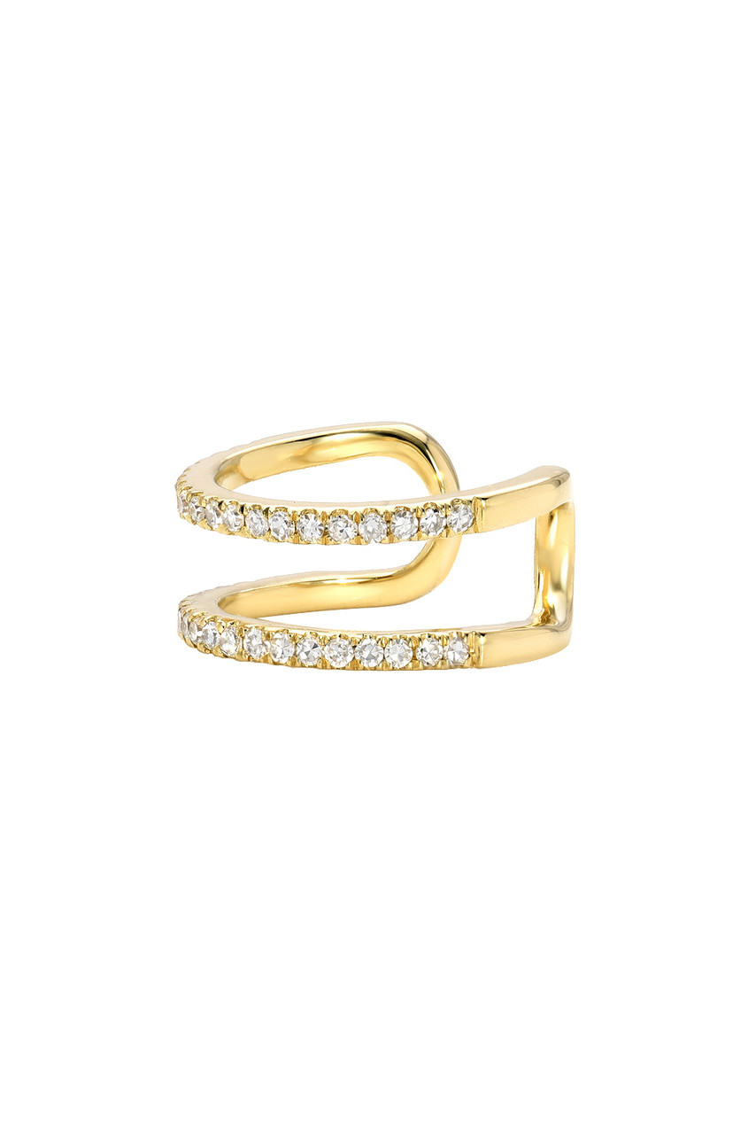 Double Row Diamond Ear Cuff - Out of Stock