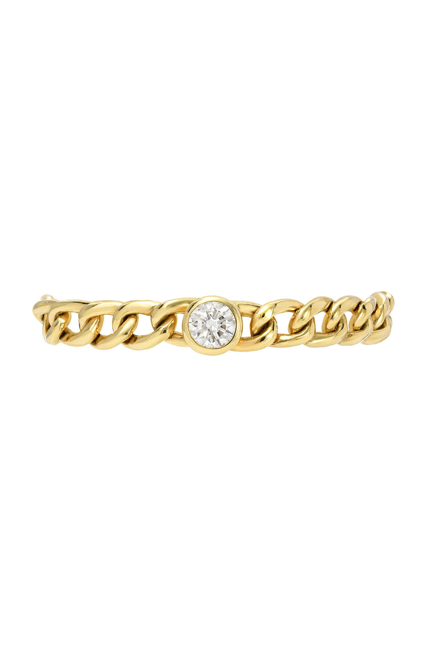 Bezel Diamond Cuban Link Ring