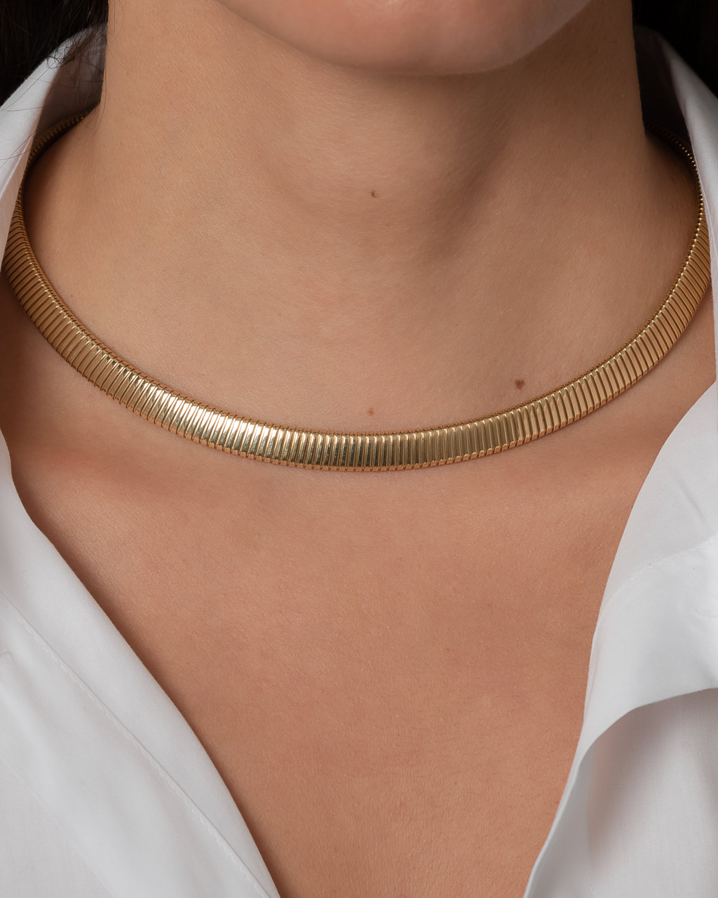 14k. gold coil chain necklace